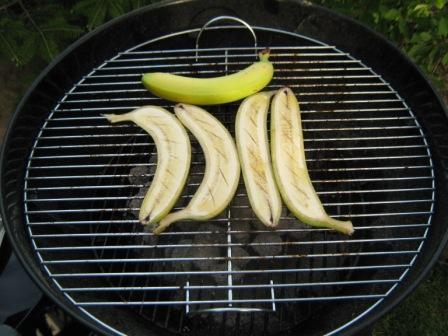 Bananen-grillen