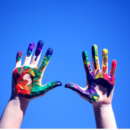 Fingermalfarben selber machen