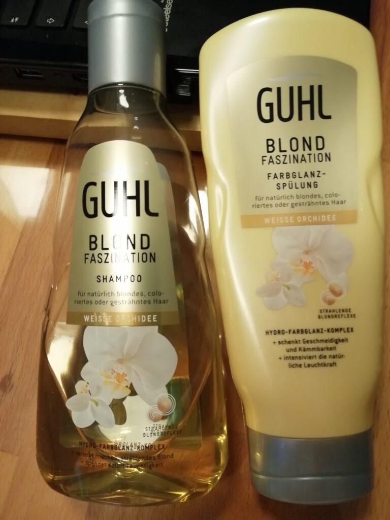 Guhl Blond Faszination Farbglanz weiße Orchidee Shampoo und Spülung
