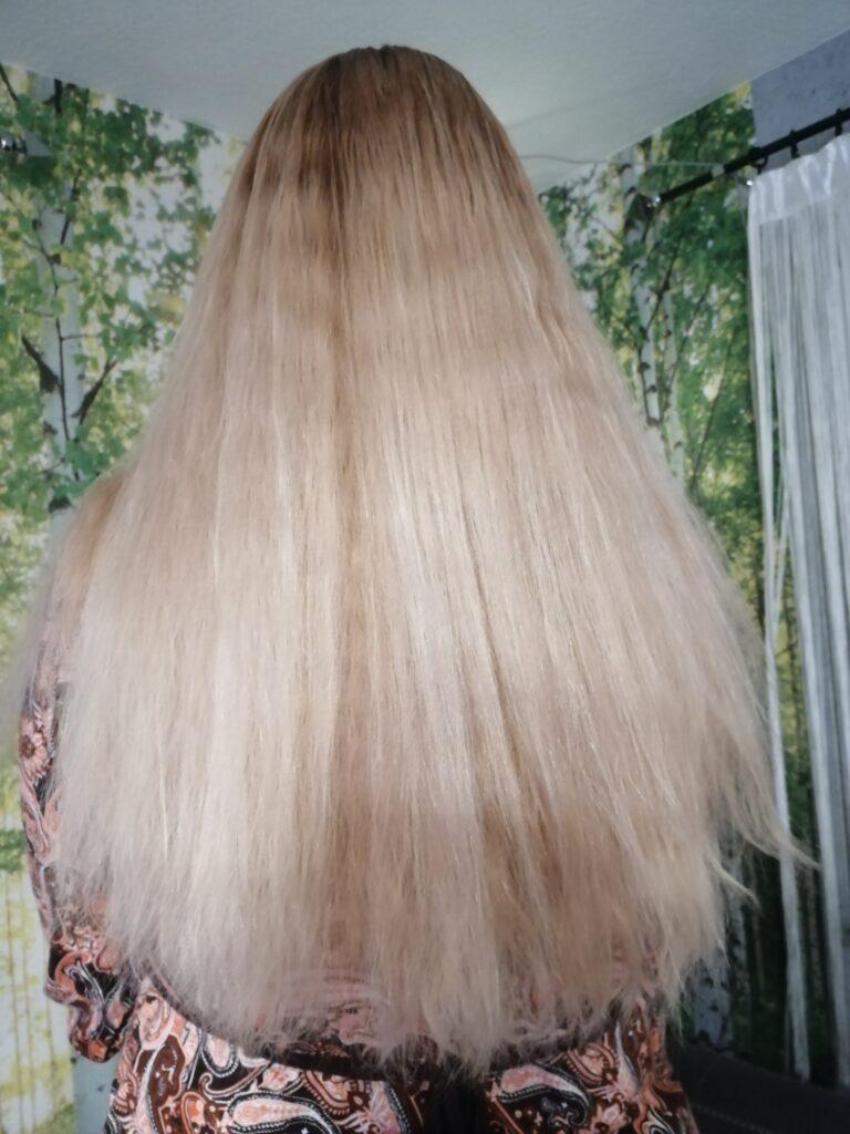 Meine Haar nach der Anwendung, ohne glätten oder Föhnen